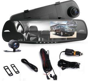 Pyle Dash Cam Rearview Mirror review
