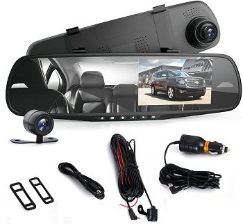 Pyle Dash Cam Rearview Mirror review