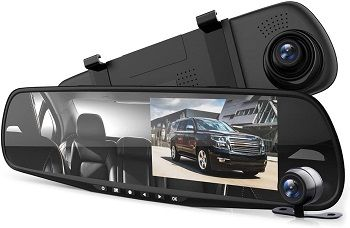 Pyle Dash Cam Rearview Mirror