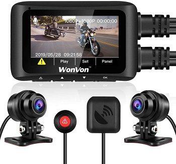 WonVon MT1 Motorcycle Dash Cam